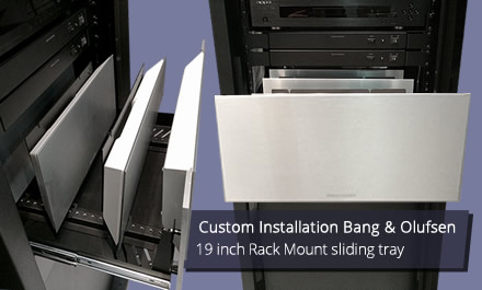 mounting of Bang & Olufsen hardware into a 5U rack mount