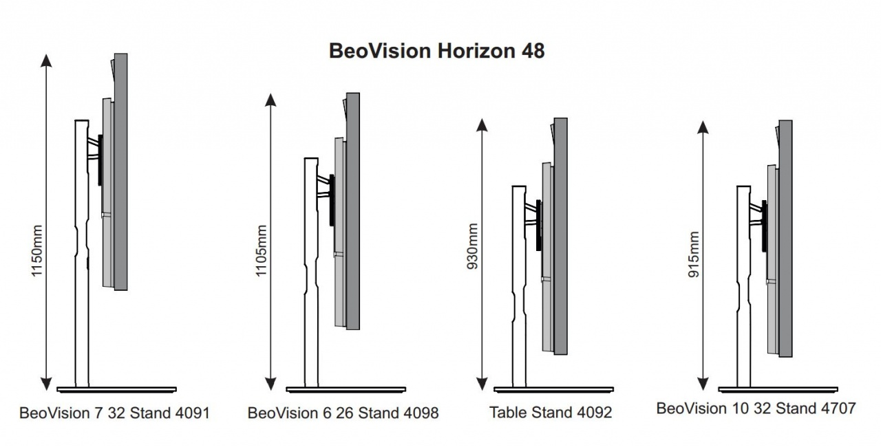 Beovision Horizon On Beovision 7 32 Stand